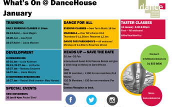 What's On @ DanceHouse in January