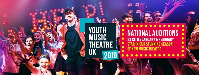 Youth Music Theatre UK National Auditions 2019