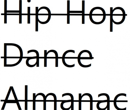 Hip Hop Dance Almanac Pitches